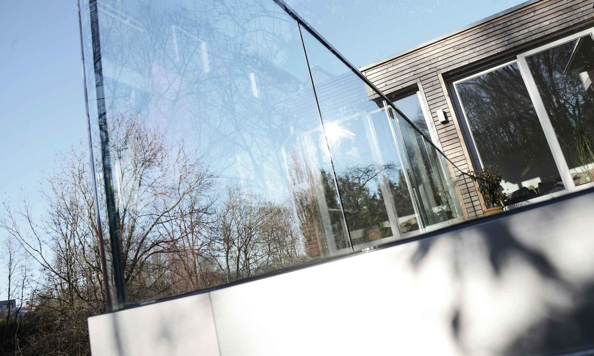 Außenverglasung Terrasse Geländer - Glas Hoffmann GmbH
